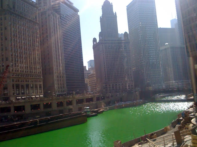 Chicago River St Pats Green
